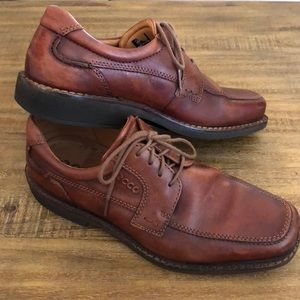 ECCO men's Genuine leather Derby lace up shoes